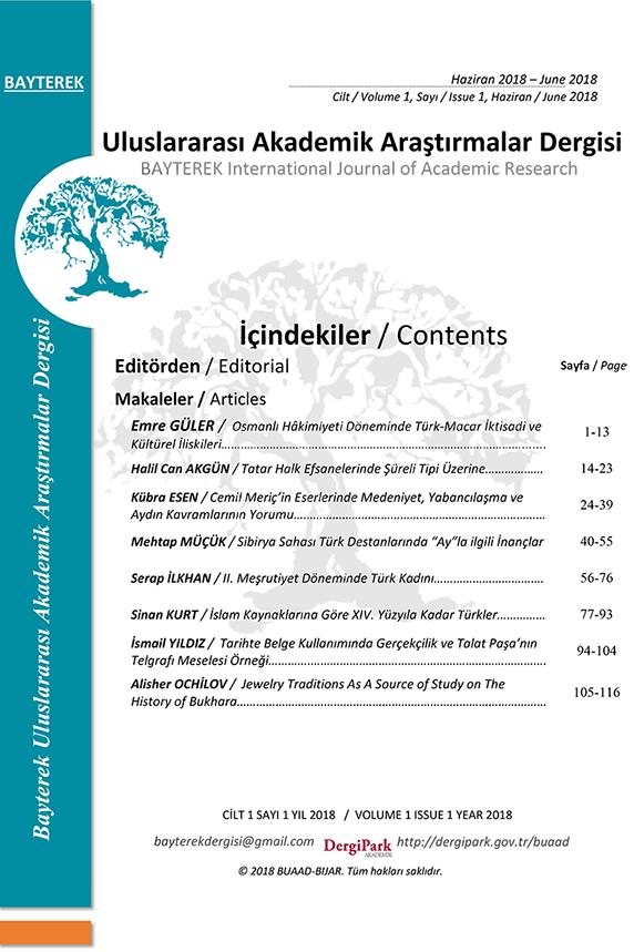 Bayterek Uluslararası Akademik Araştırmalar Dergisi